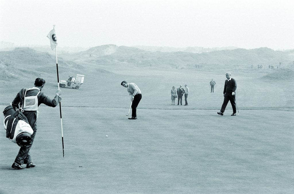 Tony Jacklin and Jack Nicklaus at the 1969 Ryder Cup