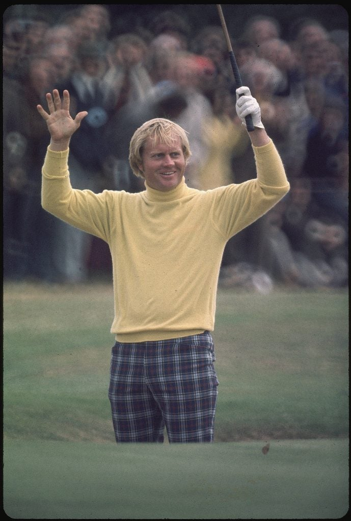 Jack Nicklaus at the 1973 British Open