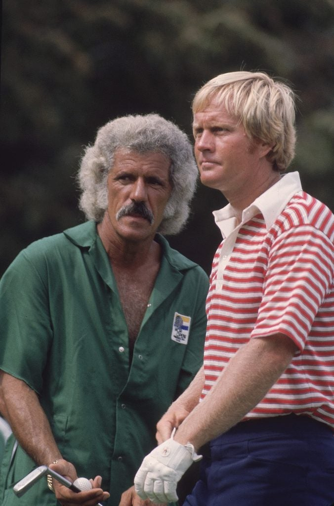 Jack Nicklaus With Caddie Angelo Argea