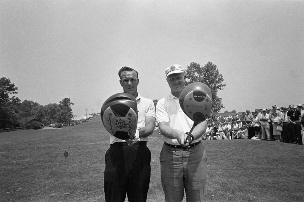Arnold Palmer and Jack Nicklaus at 1962 U.S. Open
