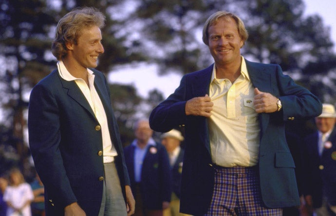 Jack Nicklaus and Bernard Langer