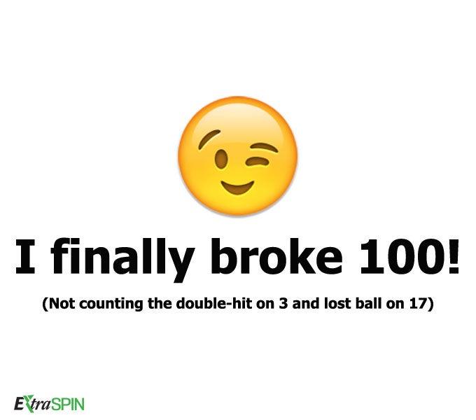 I finally broke 100!