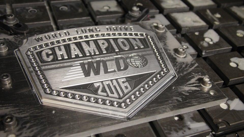 2016 World Long Drive Championship Belt.JPG