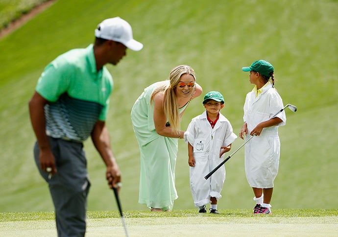 Tiger Woods, Lindsey Vonn and kids
