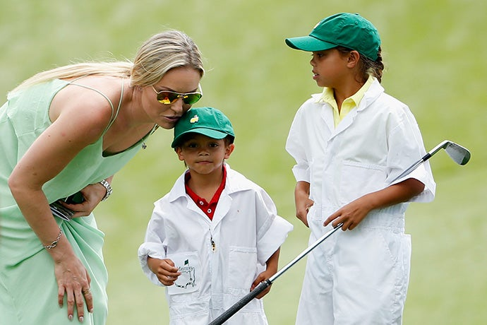 Lindsey Vonn and Charlie and Sam Woods
