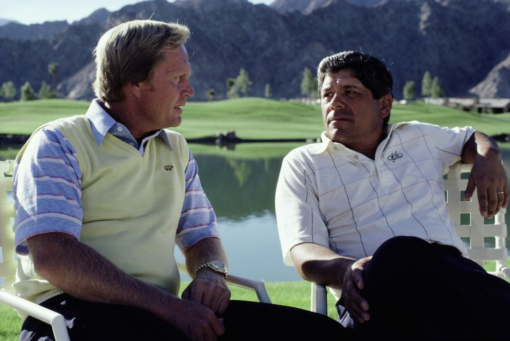 Jack Nicklaus and Lee Trevino