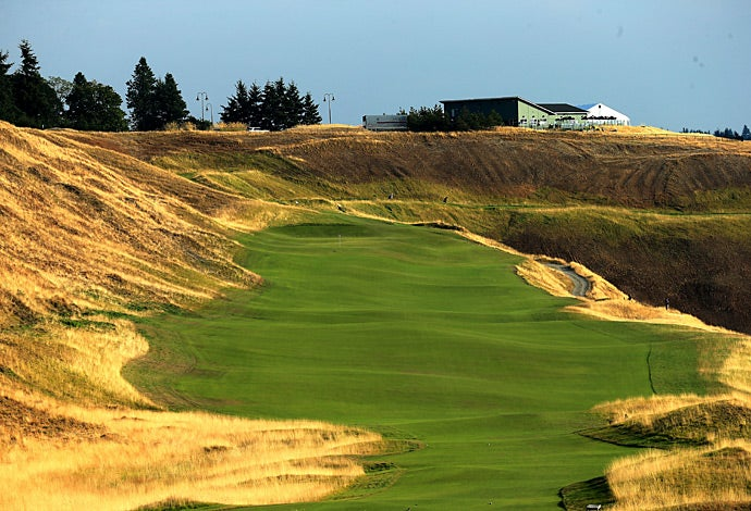 An alternate view of the par-5 8th hole.