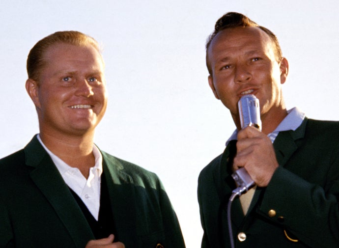 Jack Nicklaus and Arnold Palmer at 1963 Masters