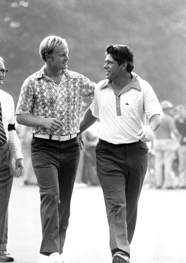 Jack Nicklaus and Lee Trevino at 1971 U.S. Open