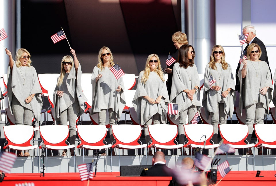 Wives and girlfriends of the American team.