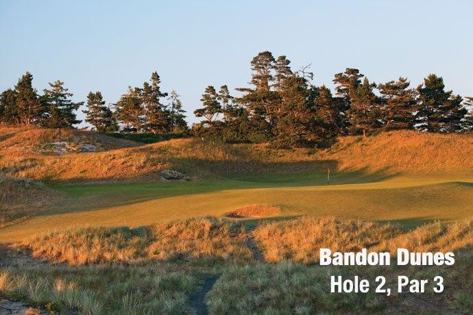 Bandon Dunes: Hole 2, Par 3
