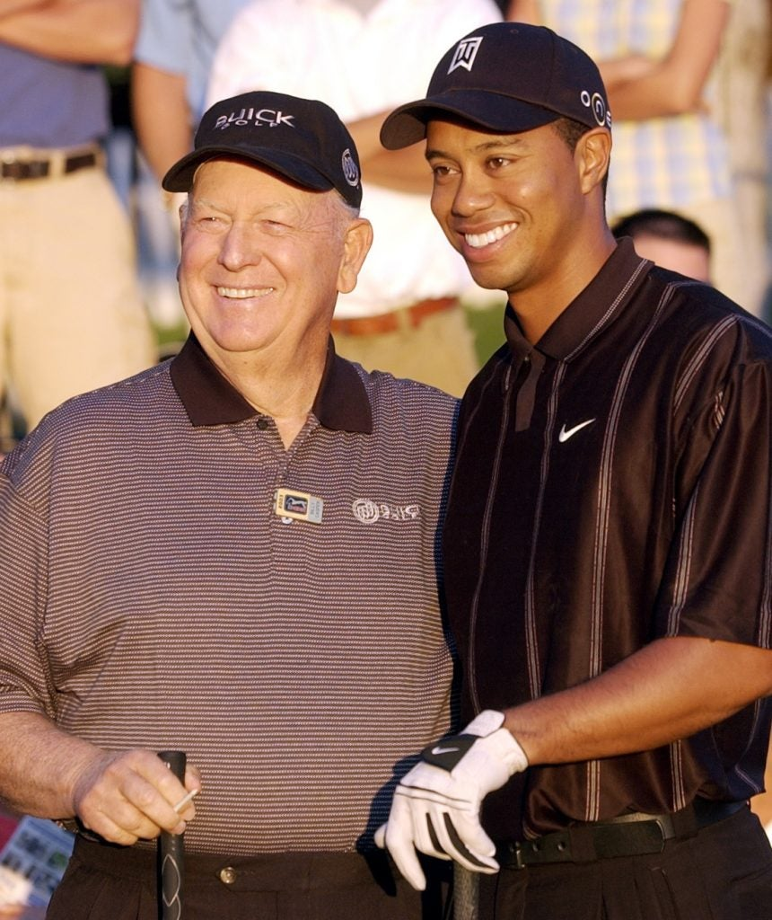 Billy Casper and Tiger Woods