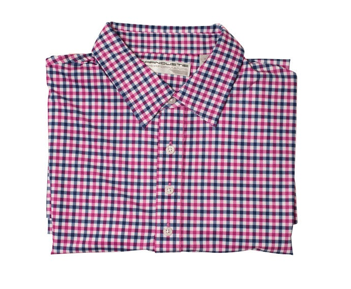 Carnoustie Golf Gingham Performance Polo