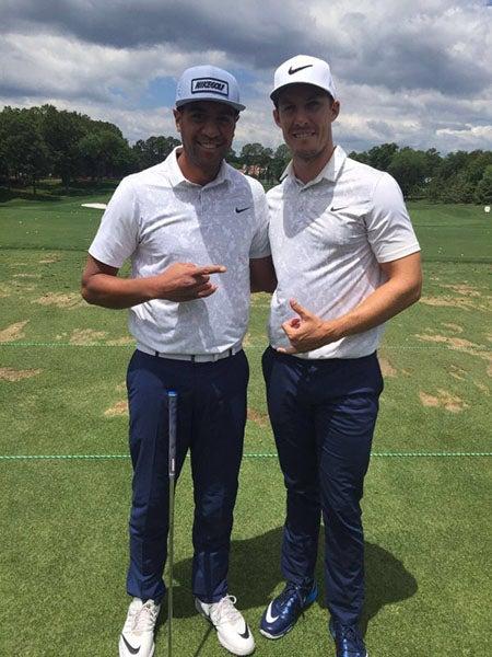 Tony Finau & Jamie Lovemark