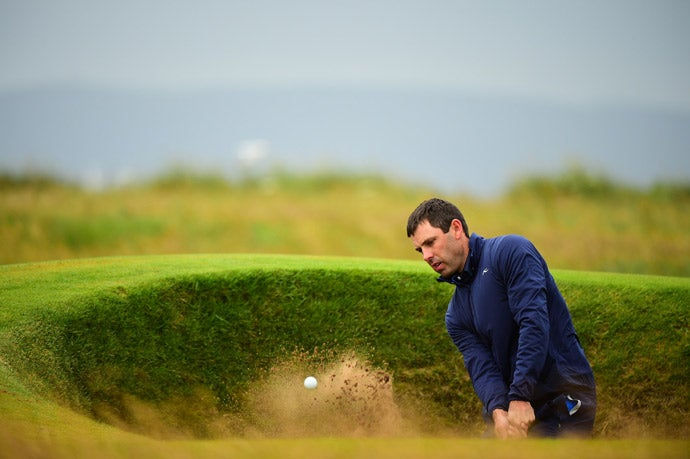 Charl Schwartzel during the third round at Royal Troon.