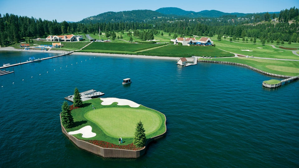 Floating Green in Coeur d'Alene