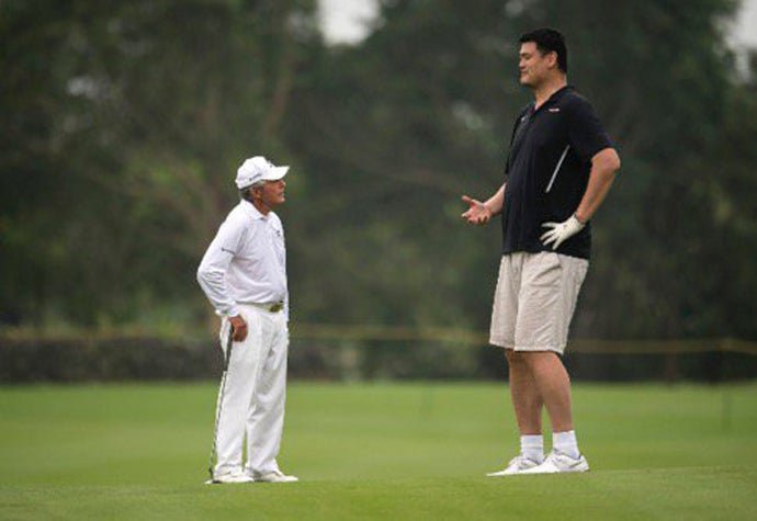 Gary Player and Yao Ming