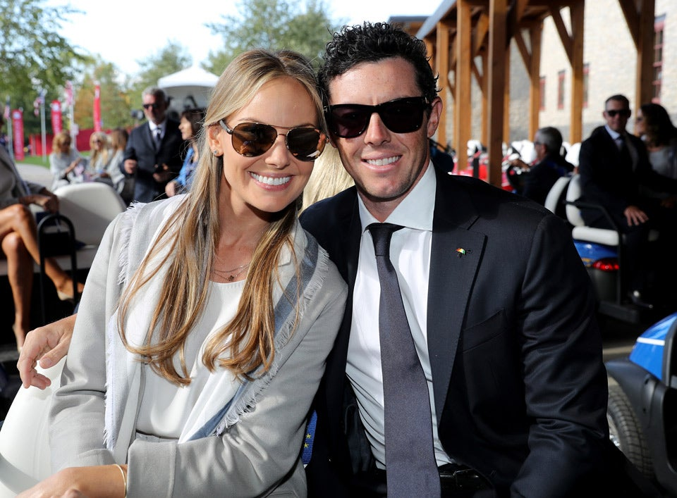 Rory McIlroy and fiancee Erica Stoll.