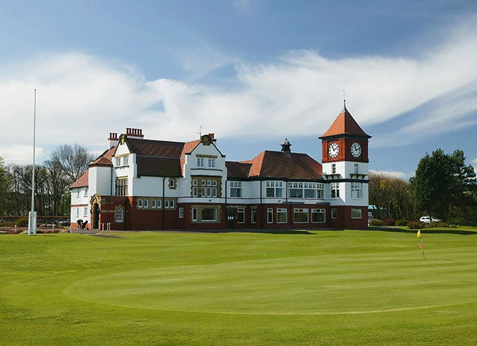 From the exterior, the clubhouse at Formby Golf Club in the UK gives off the vibes of a majestic castle.