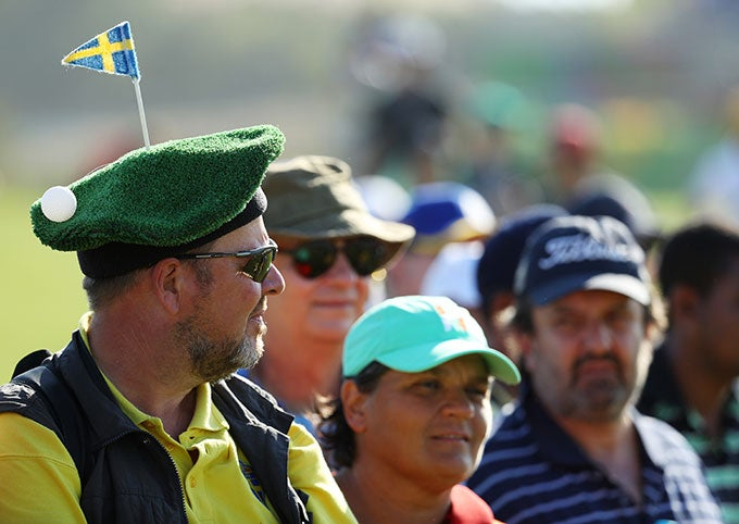 Fan at Olympic Golf Event