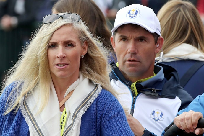 Caroline Harrington and Padraig Harrington