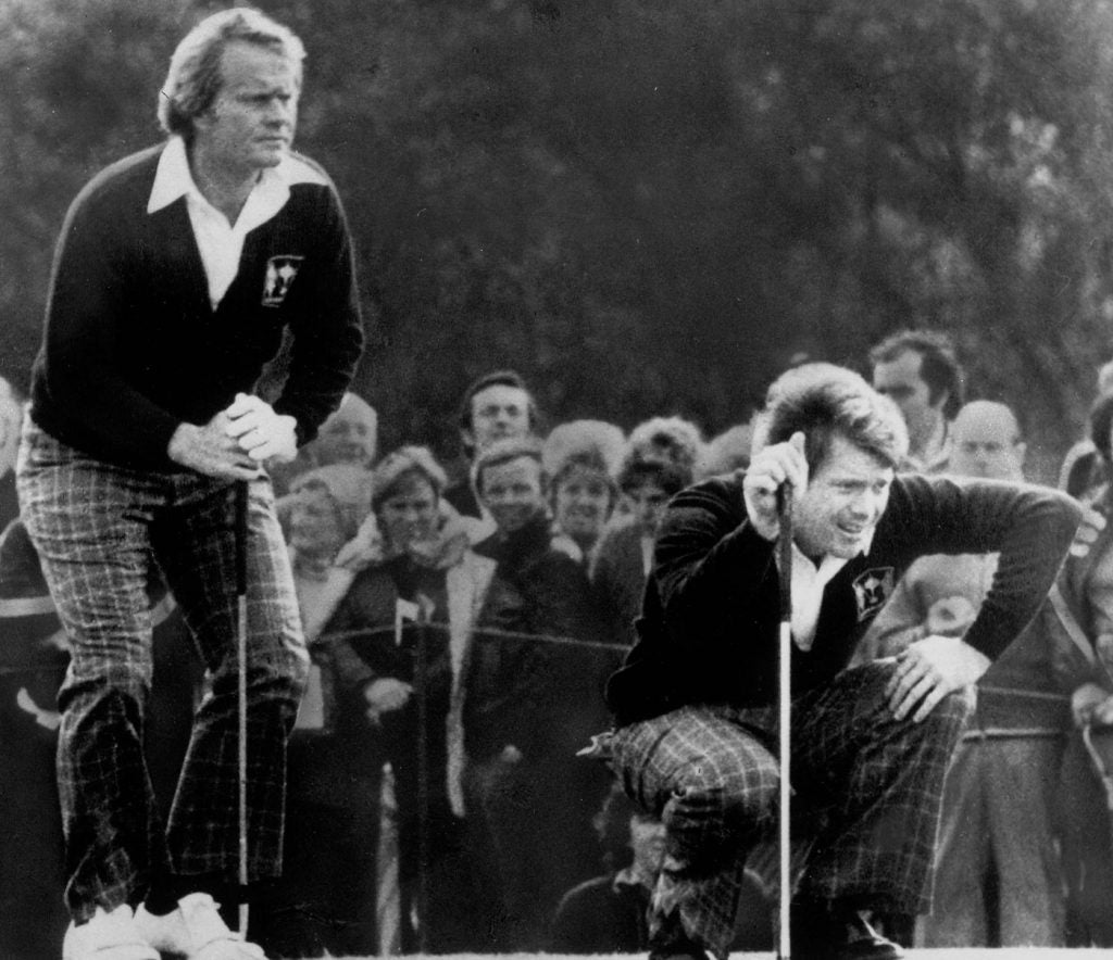 Jack Nicklaus and Tom Watson Were Ryder Cup Partners