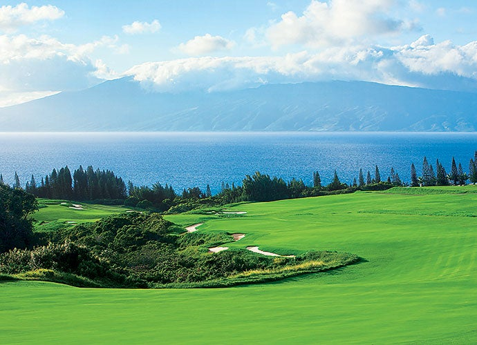 12. 18th Hole, Kapalua Resort (Plantation), Maui, Hawaii; par 5, 663 yards