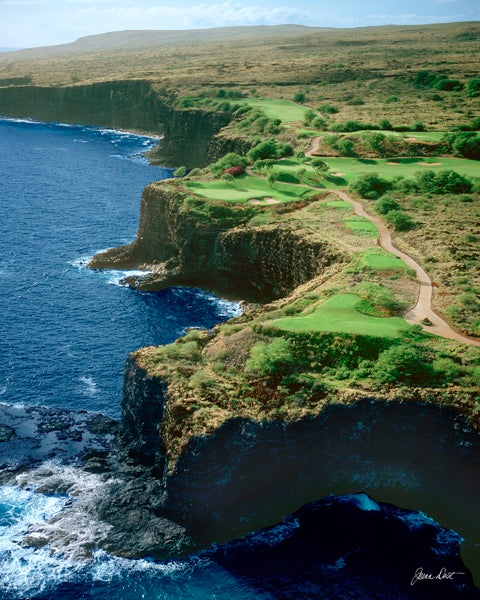 13. 12th Hole, Manele Golf Course, Lanai, Hawaii; par 3, 202 yards
