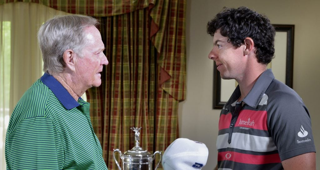 Jack Nicklaus and Rory Mcilroy