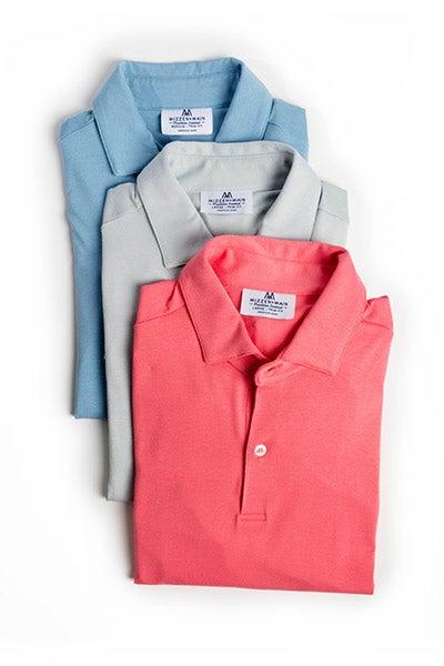 Mizzen + Main Polos, $125