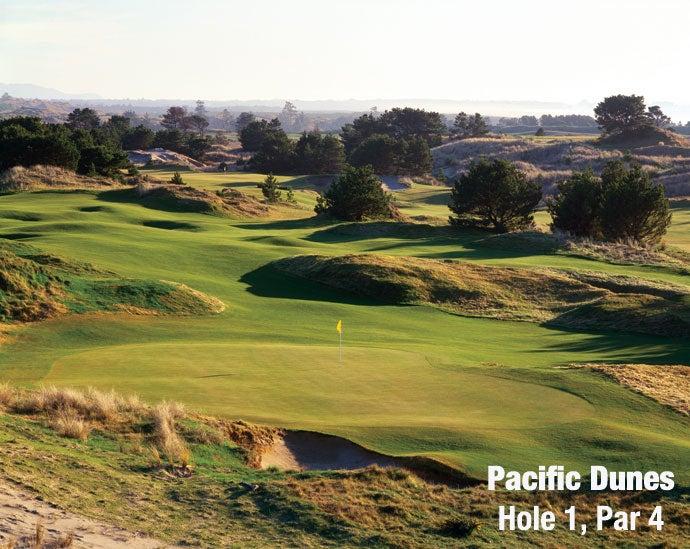 Pacific Dunes: Hole 1, Par 4