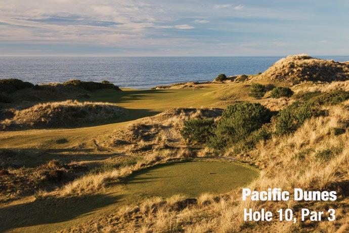 Pacific Dunes: Hole 10, Par 3