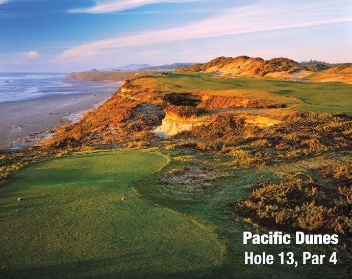 Pacific Dunes: Hole 13, Par 4