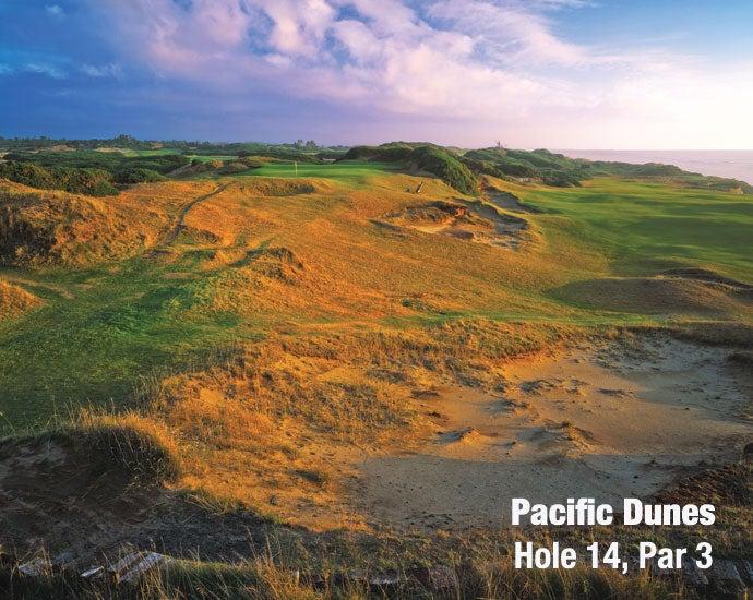Pacific Dunes: Hole 14, Par 3