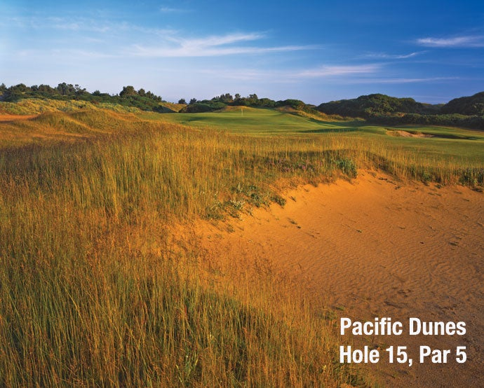 Pacific Dunes: Hole 15, Par 5