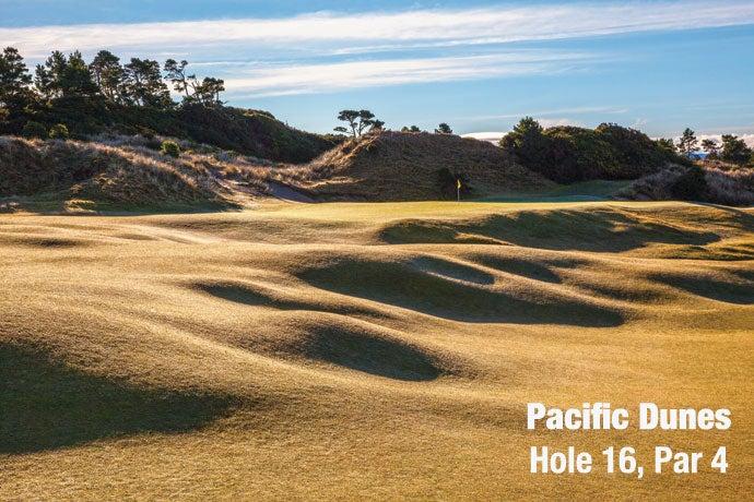 Pacific Dunes: Hole 16, Par 4