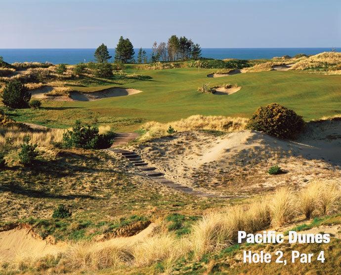 Pacific Dunes: Hole 2, Par 4