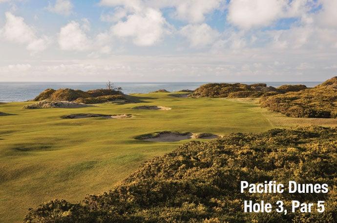 Pacific Dunes: Hole 3, Par 5