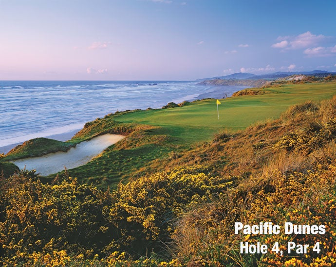Pacific Dunes: Hole 4, Par 4