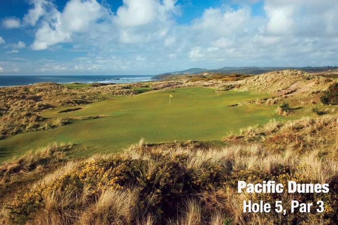 Pacific Dunes: Hole 5, Par 3