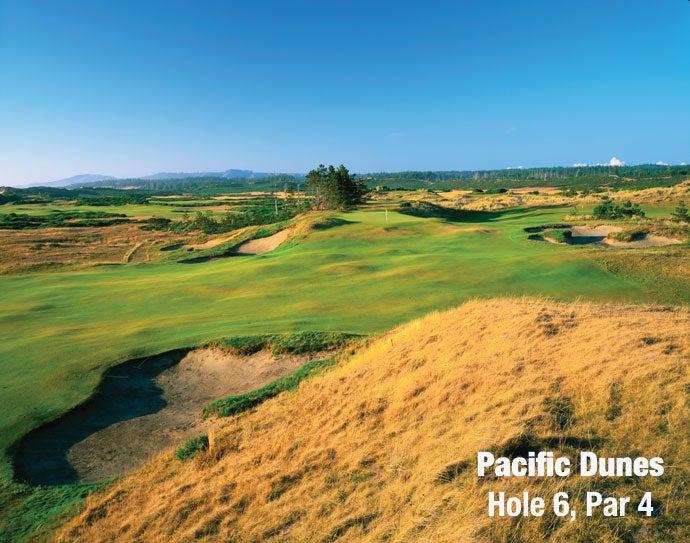 Pacific Dunes: Hole 6, Par 4