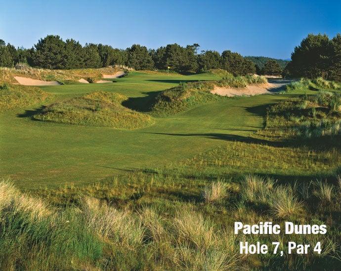 Pacific Dunes: Hole 7, Par 4