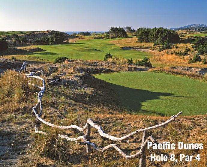 Pacific Dunes: Hole 8, Par 4