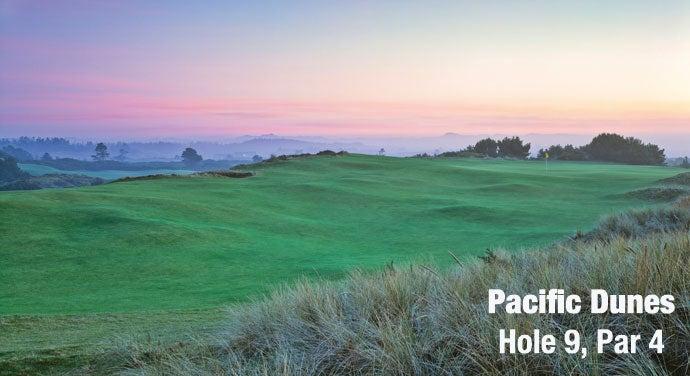 Pacific Dunes: Hole 9, Par 4