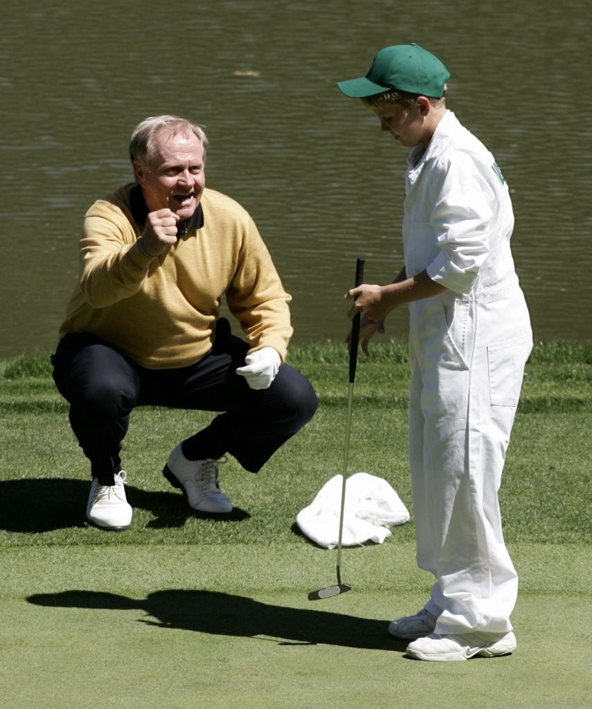 Jack Nicklaus and His Grandson Charlie
