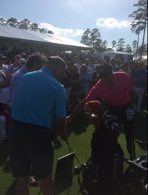 Tiger Woods, Mark O'Meara & David Feherty