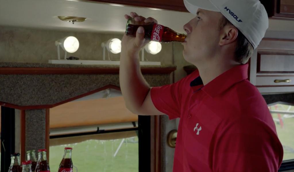 Jordan Spieth Passes Rain Delay In Coca Cola Commercial
