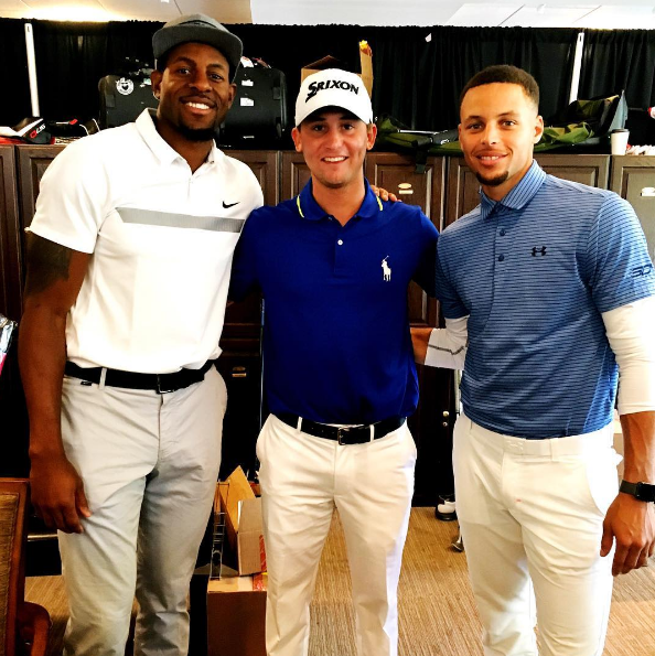 Smylie Kaufman, Steph Curry & Andre Iguodala