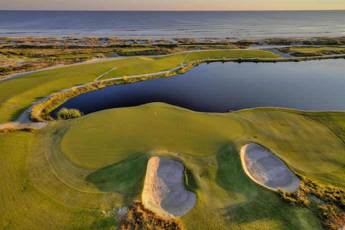 The 17th hole at Kiawah Island's Ocean Course.