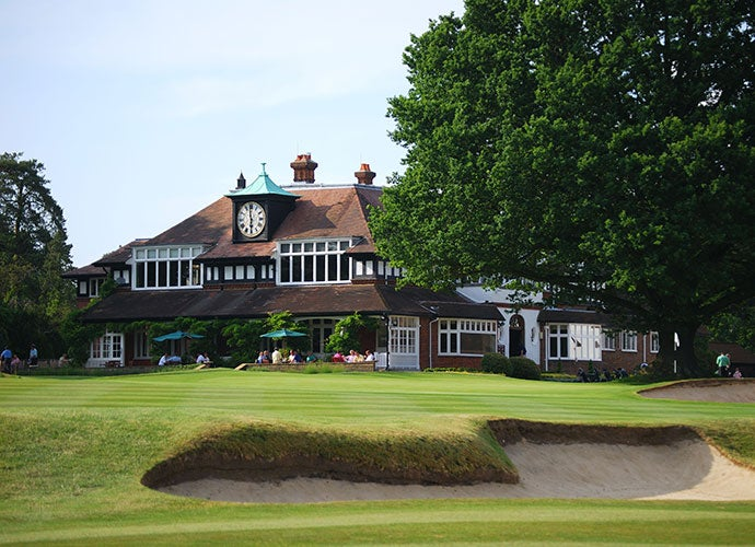 Sunningdale Country Club is an oasis about 30 miles west of London.
